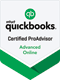 Quickbooks certified proadvisor advanced online logo